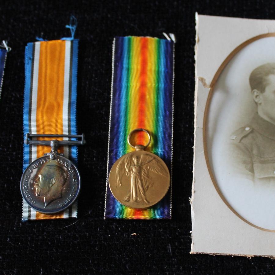 WW1 Trio Rifle Brigade And MGC