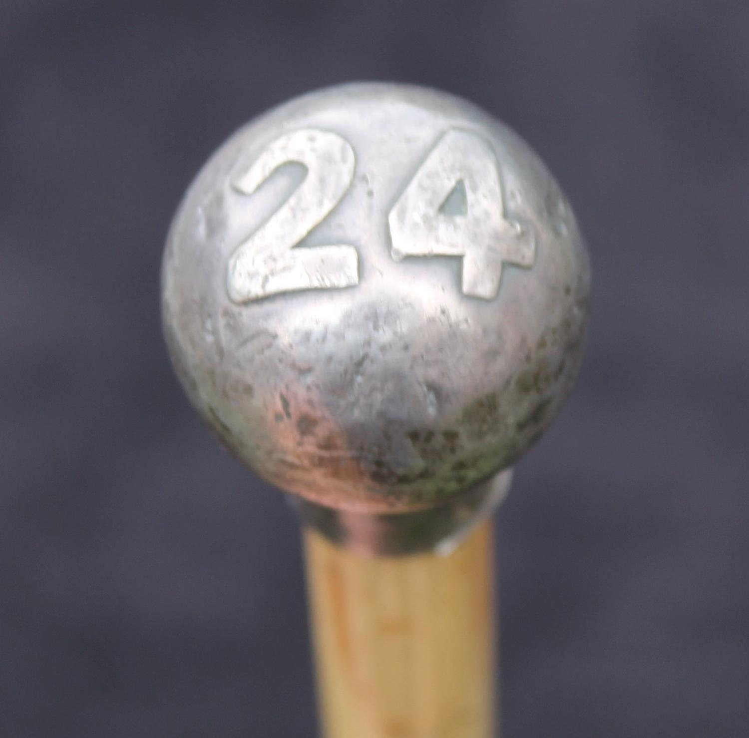 24th Regiment Of Foot Silver Swagger Stick