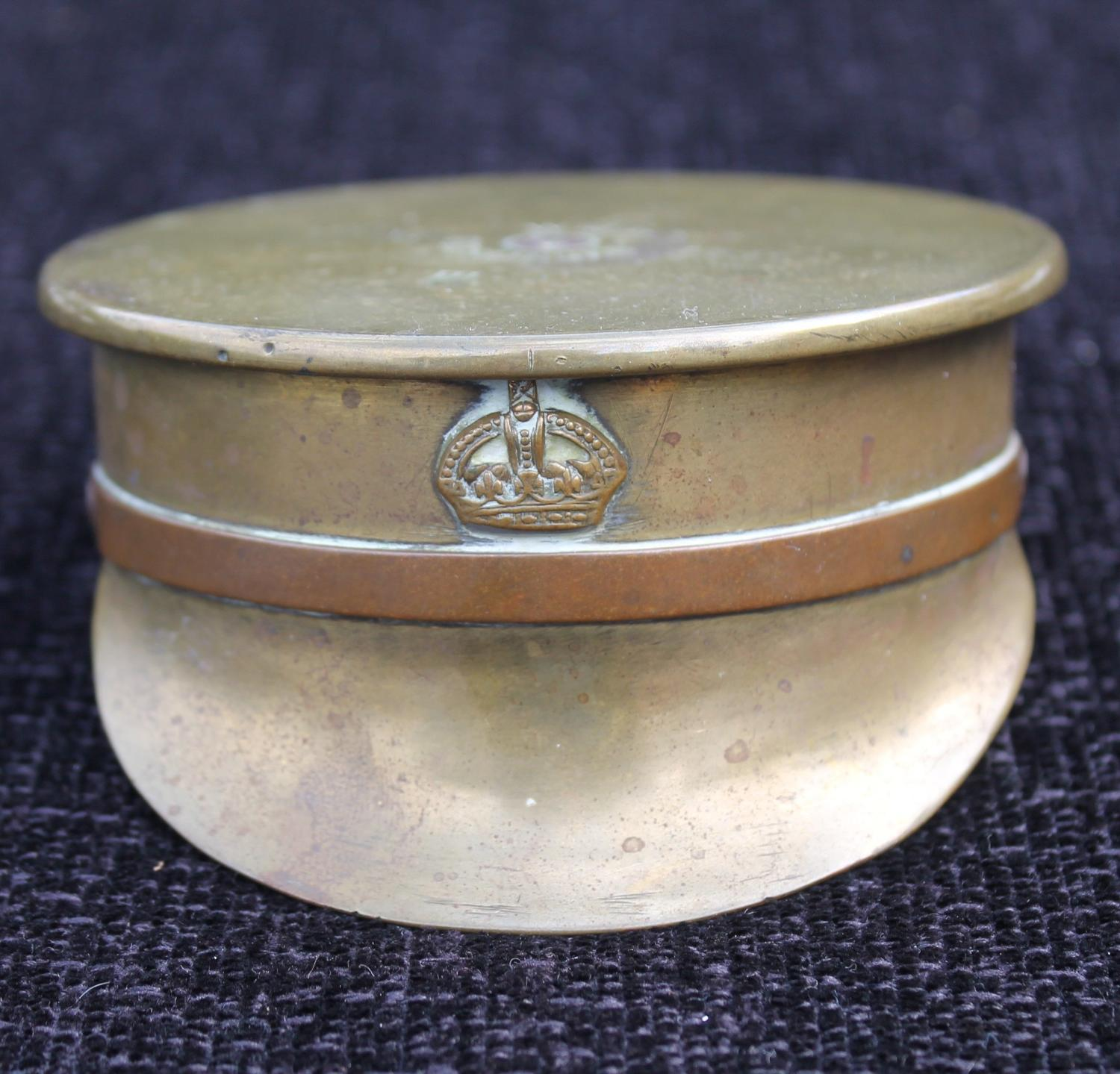 A Trench Art Cap