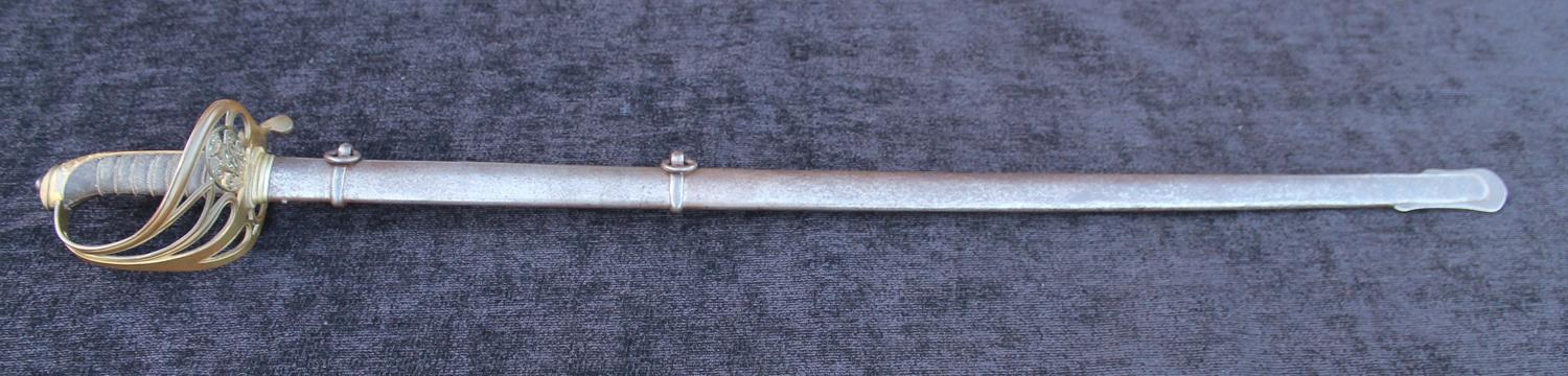 1854 Pattern Patent Solid Hilt Infantry Officers Sword