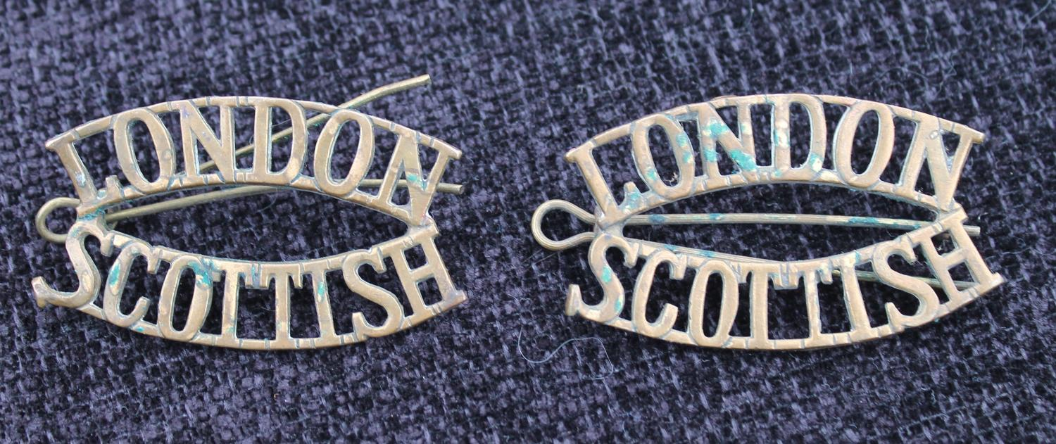 London Scottish Shoulder Titles