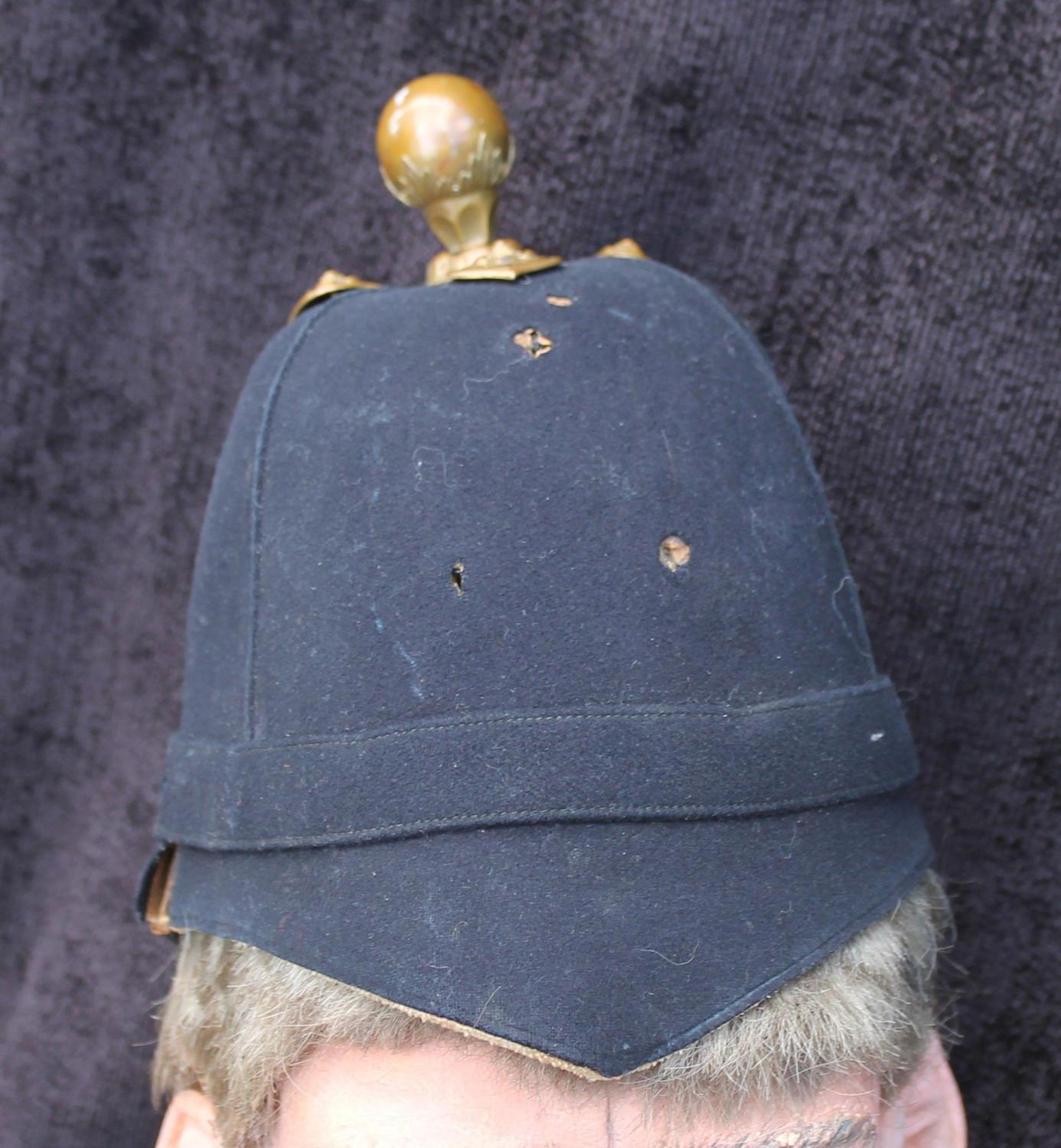Blue Cloth Officers Helmet