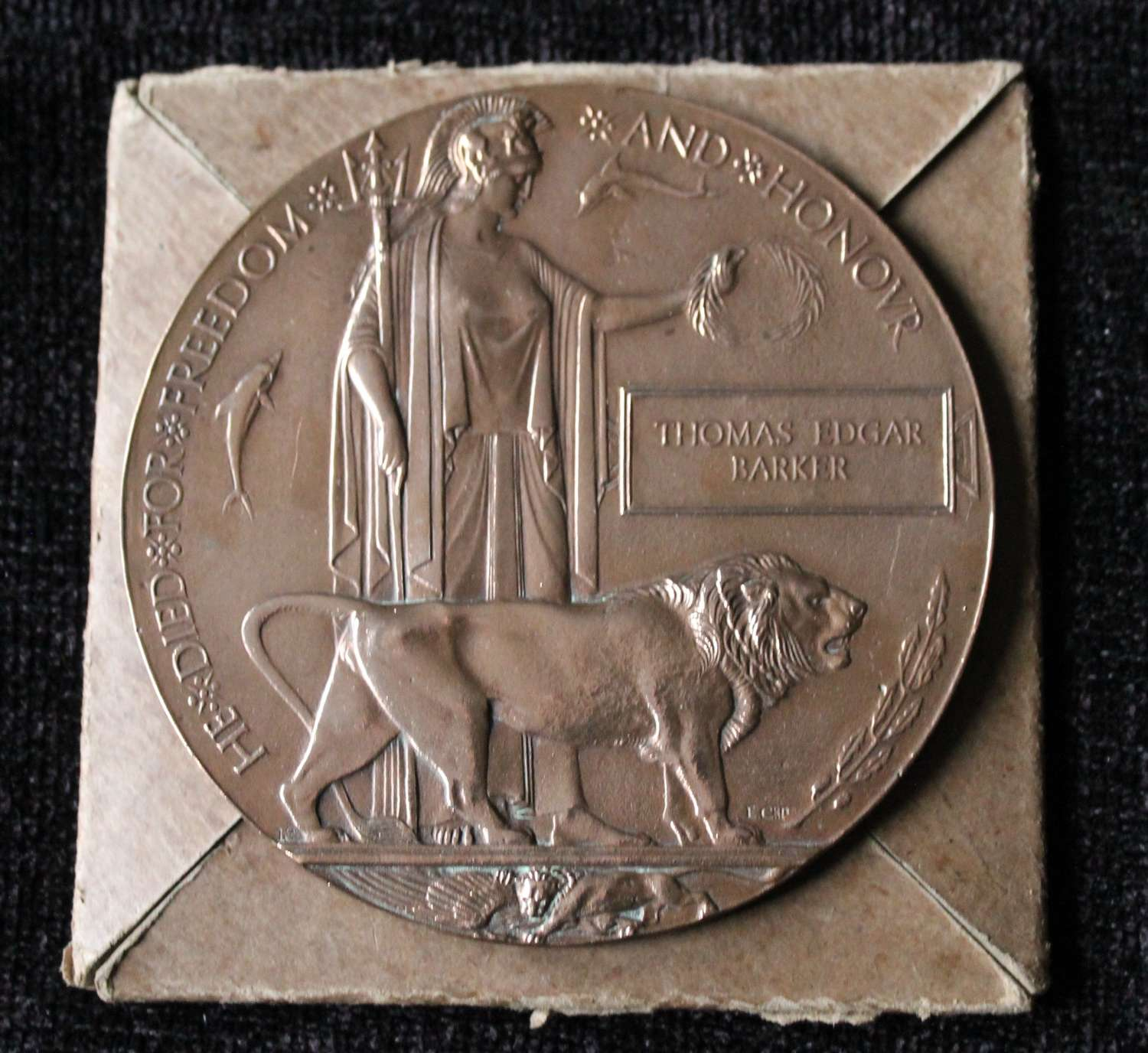 WW1 Death Plaque NZ Casualty