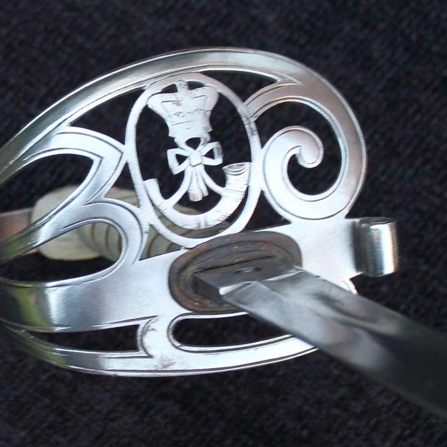 Derbyshire Rifle Volunteers Officers Sword