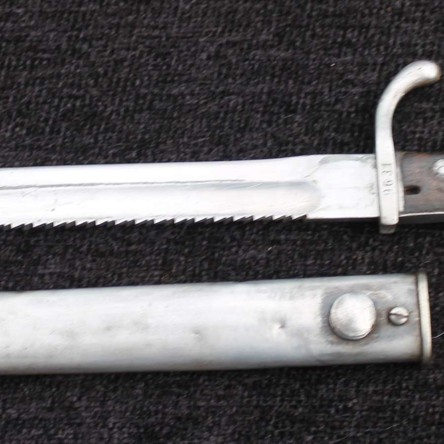 A WW1 German Sawback Bayonet