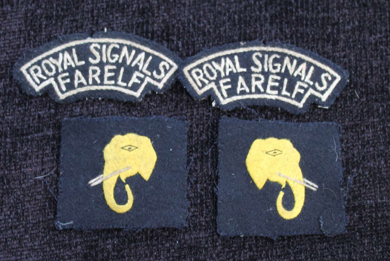 Royal Signals FARELF Insignia