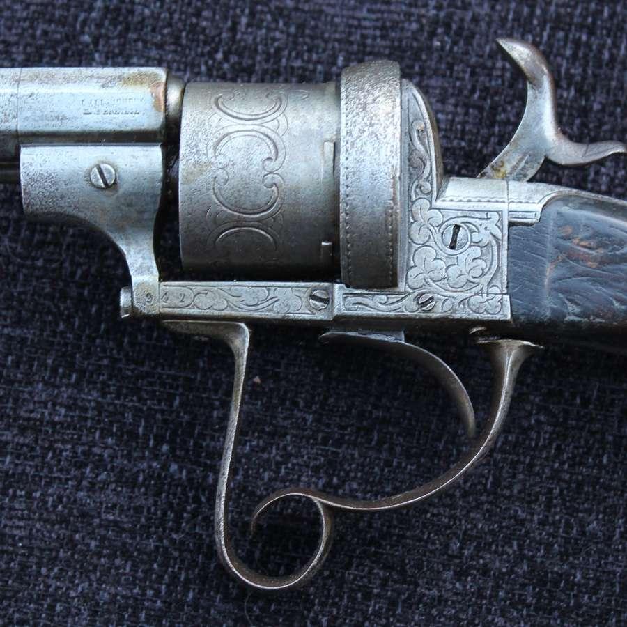 Lefaucheux Pinfire Revolving Rifle