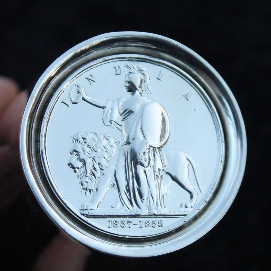 Indian Mutiny Medal/Solid Silver Beaker