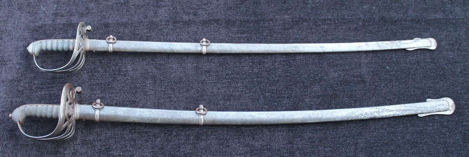 A PAIR Of Swords To The 7th Surrey Rifle Volunteers