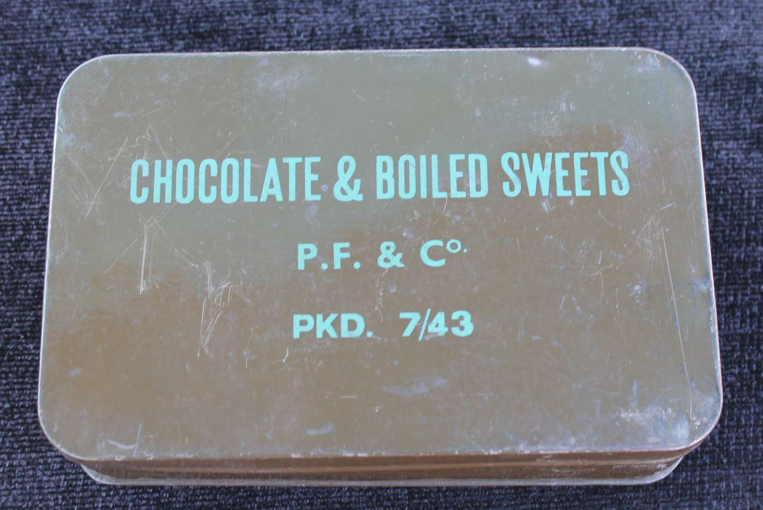 Chocolate & Boiled Sweets Ration Tin