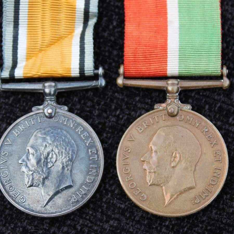 Mercantile Marine War Medal Pair
