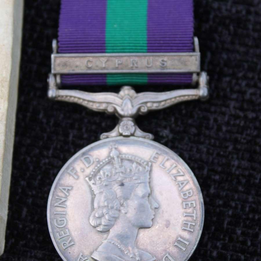 General Service Medal Bar Cyprus