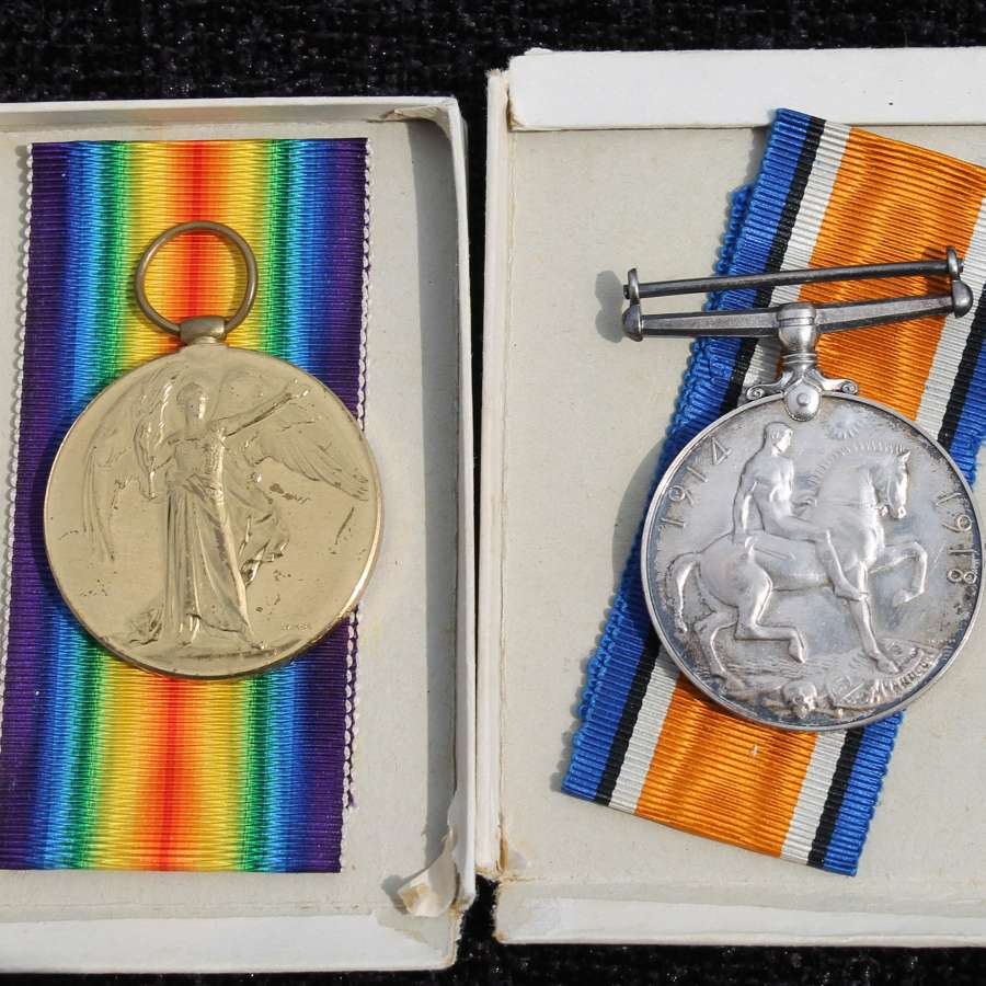 Officers Medal Pair Lancashire Fusiliers Casualty