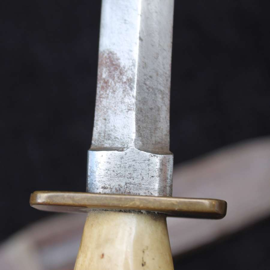 Horn Handled Fighting Knife