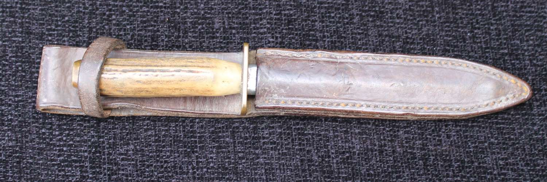 Horn Handled Fighting Knife
