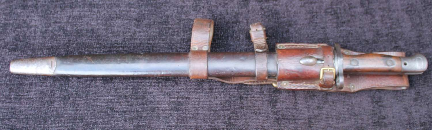 Regimentally Marked 1907 Bayonet, 1914 Patter Frog And Helve Carrier
