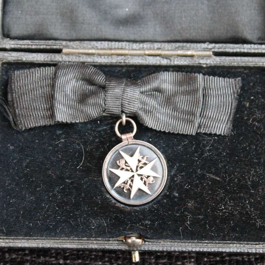 Cased Miniature Order Of St John