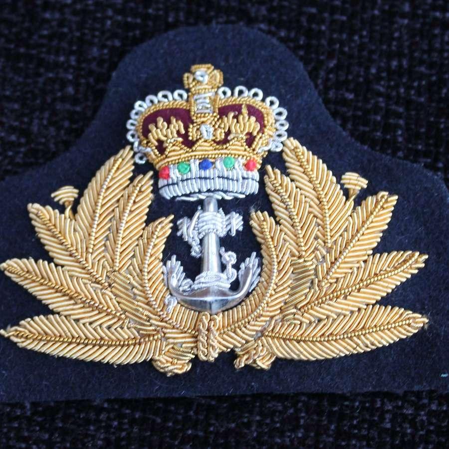 ERII Royal Navy Cap Insignia