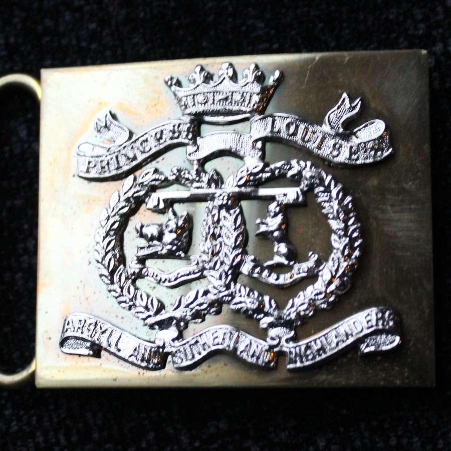 Argyll And Sutherland Highlanders Belt Buckle