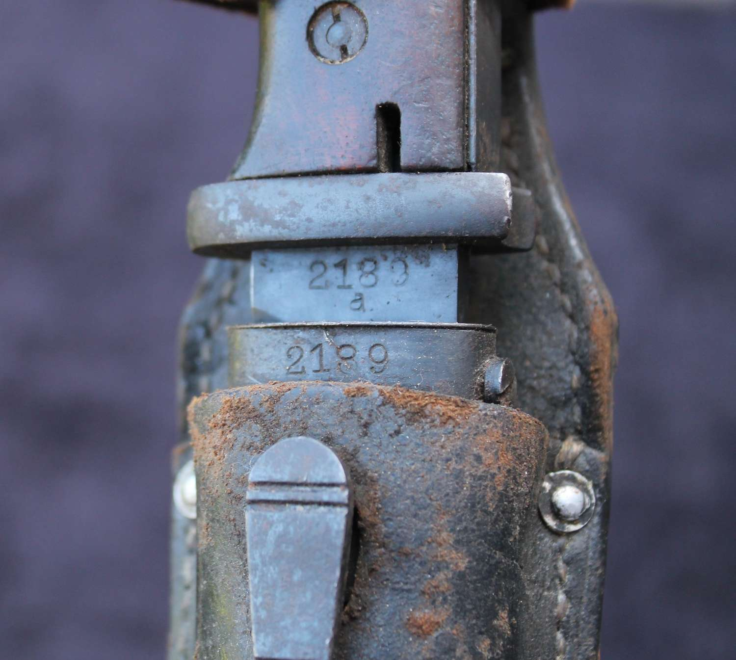 Early K98 Bayonet Matching Numbers, With Frog
