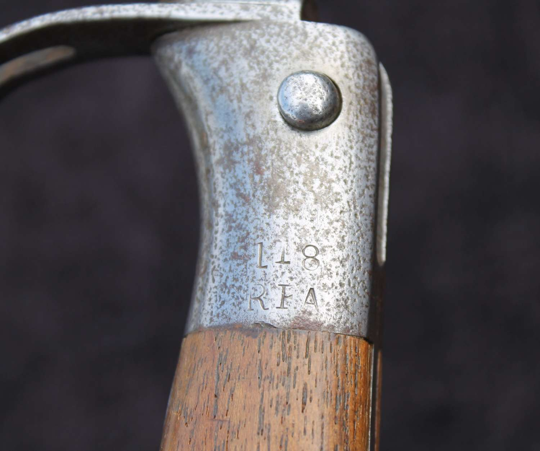 1879 Martini Henry Artillery Sawback Bayonet