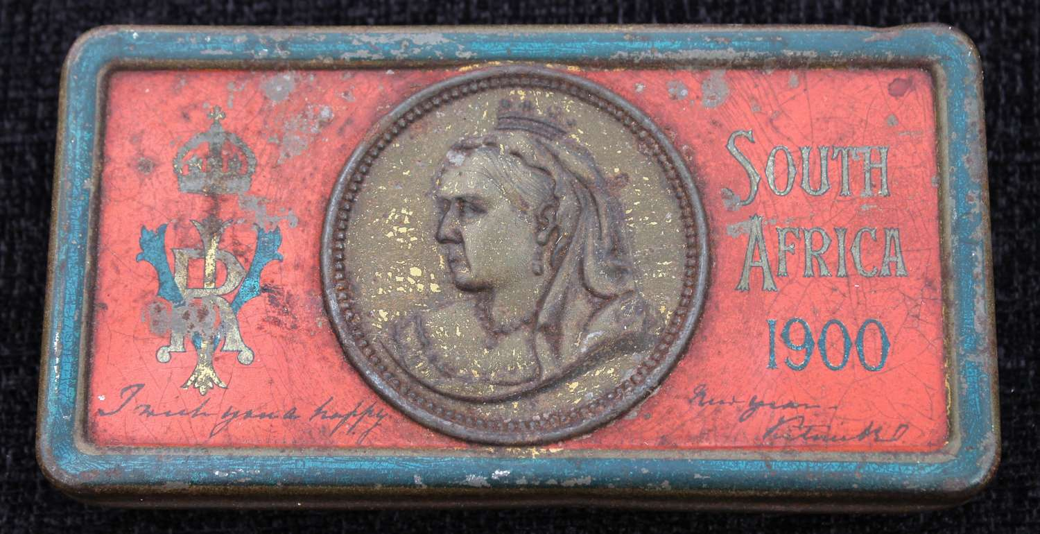 1900 Boer War Queen Victoria Gift Tin With Contents